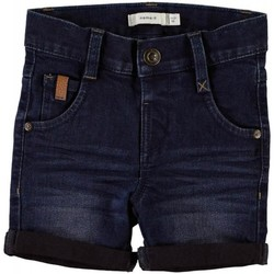 Vêtements Garçon Shorts / Bermudas Name It Kids NMMSOFUS DNMCOMO 1014/3012 LONG SHO CAMP Blue