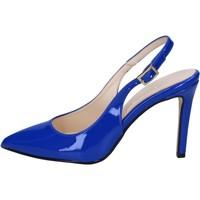 Chaussures Femme Sandales et Nu-pieds Olga Rubini chaussures femme  sandales bleu cuir verni BY285 bleu