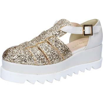 Chaussures Femme Sandales et Nu-pieds Olga Rubini sandales platino glitter cuir BY337 autres