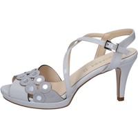 Chaussures Femme Sandales et Nu-pieds Olga Rubini chaussures femme  sandales gris cuir verni daim BY358 gris