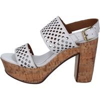 Chaussures Femme Sandales et Nu-pieds Shocks chaussures femme  sandales blanc cuir BY394 blanc