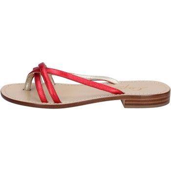 Chaussures Femme Sandales et Nu-pieds Soleae sandales rouge cuir BY501 rouge