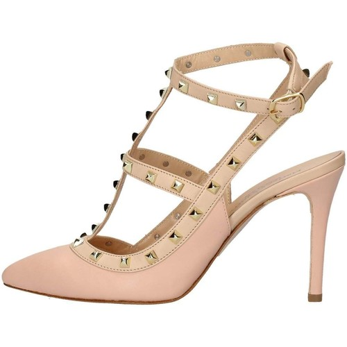 Mariano Ventre VAL01 Sandales Femme Rose Rose - Chaussures Sandale Femme