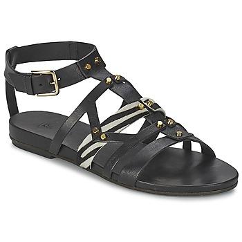 Chaussures Femme Sandales et Nu-pieds Vic GINKO ACHANTUS Noir