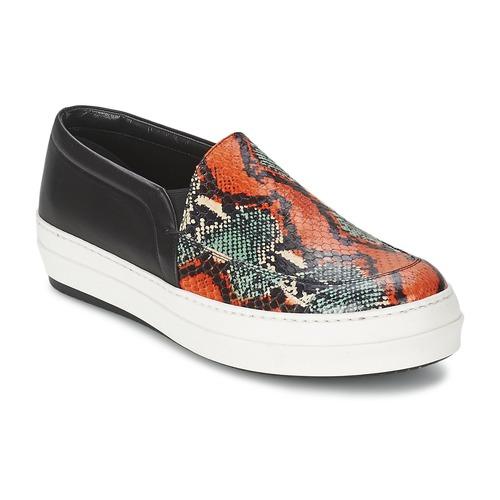 Chaussures Femme Slip ons McQ Alexander McQueen DAZE Noir / Multicolore
