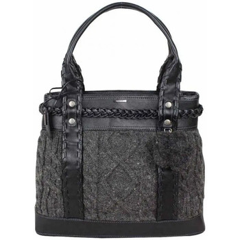 Sacs Femme Cabas / Sacs shopping Mexx Sac cabas fantaisie effet tricot  MAW022 Noir / Gris