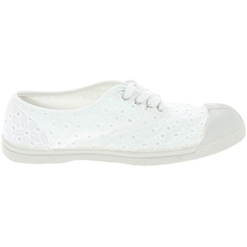 Chaussures Femme Baskets basses Bensimon Toile Lacet Broderie Blanc Blanc
