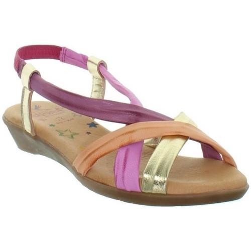 Marila Sandales  en cuir ref_neox43580-multi Multi - Chaussures Sandale Femme