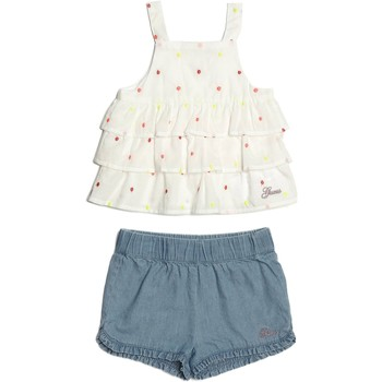 Vêtements Fille Ensembles enfant Guess Top / Short Fille Blanc A82G15 Blanc