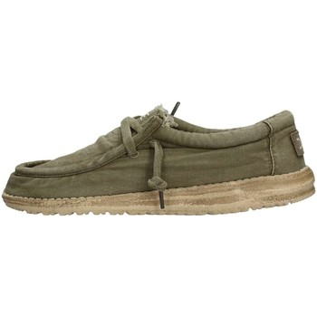 Chaussures Homme Baskets basses Hey Dude WALLY WASHED Sneaker Homme Vert Vert