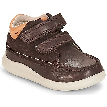 Chaussures Garçon Baskets montantes Clarks Cloud Tuktu Brown Combi Lea