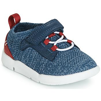 Chaussures Garçon Baskets basses Clarks Tri Hero Blue Combi