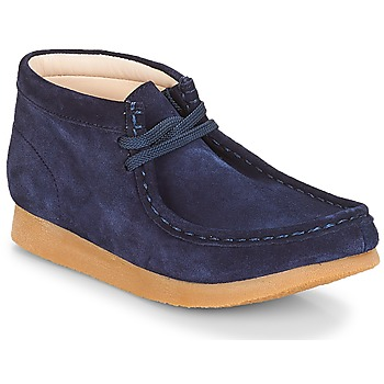 Chaussures Enfant Boots Clarks Wallabee Bt Navy Suede