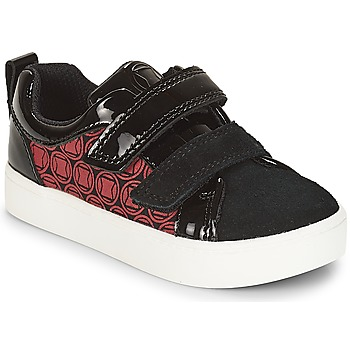 Chaussures Garçon Baskets basses Clarks City Hero Lo Black/Red
