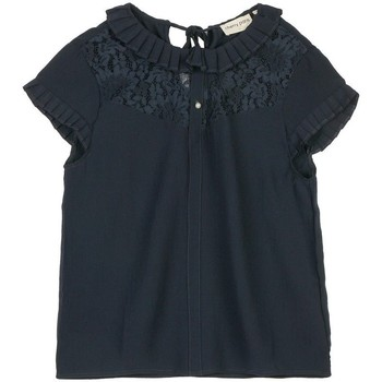 Vêtements Femme Tops / Blouses Cherry Paris Top Valery Bleu marine