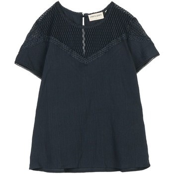 Vêtements Femme Tops / Blouses Cherry Paris Top Nala Bleu marine