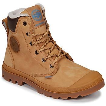 Chaussures Boots Palladium PAMPA SPORT CUFF WPS Jaune / Marron