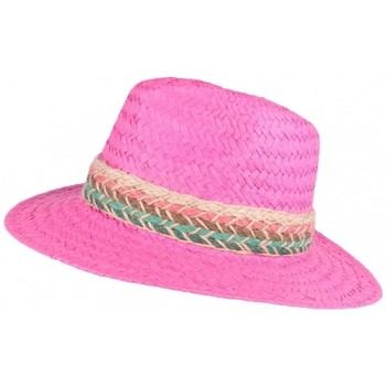 Accessoires textile Femme Chapeaux Léon Montane Chapeau paille femme rose fantaisie Solya Rose