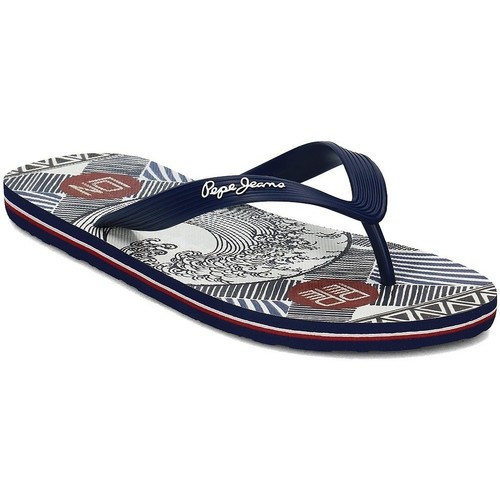 Pepe jeans Hawi Torey Bleu marine - Chaussures Tongs Homme