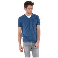 Vêtements Homme T-shirts manches courtes Kaporal T-Shirt Col V Homme Ciao Bleu 19