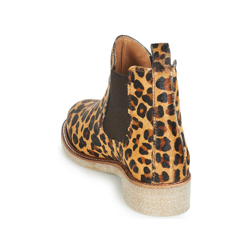 Femme Crepe Léopard Chaussures Boots Bensimon IEW2DYH9