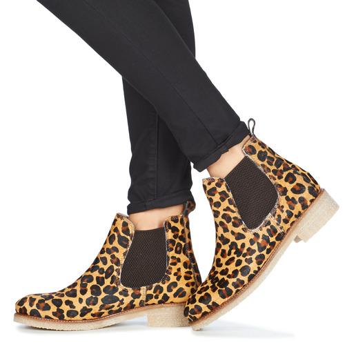 BOOTS CREPE Bensimon boots femme léopard