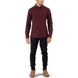 Vêtements Homme Chemises manches longues Farah STEEN Bordeaux