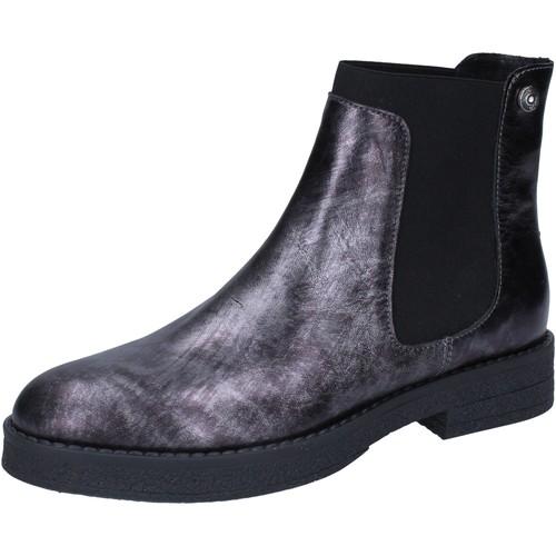 Chaussures Femme Bottines Liu Jo bottines gris cuir BY589 gris