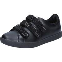 Chaussures Femme Baskets basses Liu Jo chaussures femme  sneakers noir cuir daim BY639 noir