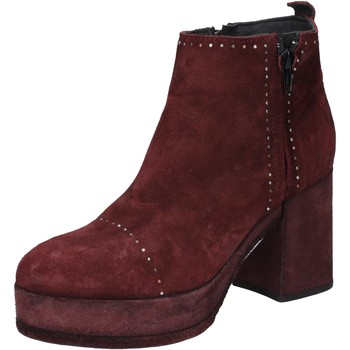 Chaussures Femme Bottines Moma bottines bordeaux daim BY669 rouge