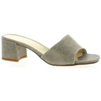 Chaussures Femme Sandales et Nu-pieds Elizabeth Stuart Nu pieds cuir laminé Taupe