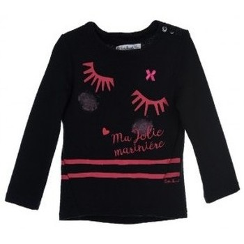 Vêtements Fille Sweats Le Petit Marcel E7404 SWEAT BLACK