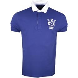 Vêtements Homme Polos manches courtes Hackett Polo piqué  bleu marine Aviron anglais pour homme Bleu