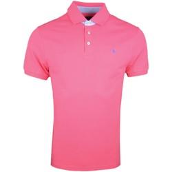 Vêtements Homme Polos manches courtes Hackett Polo piqué  rose basique slim fit pour homme Rose