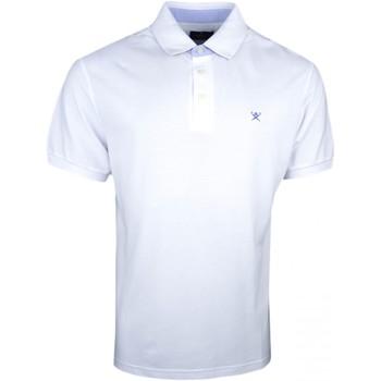 Vêtements Homme Polos manches courtes Hackett Polo piqué  blanc basique régular pour homme Blanc