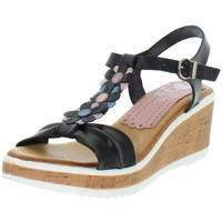 Chaussures Femme Sandales et Nu-pieds Marila Talons compensés  en cuir ref_neox43584-noir Noir