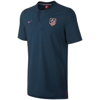 Vêtements Polos manches courtes Nike POLO ATLÉTICO MADRID AUTHENTIQUE THIRD 2017/18 bleu