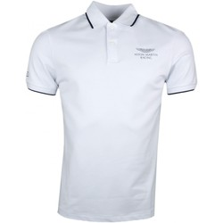 Vêtements Homme Polos manches courtes Hackett Polo piqué  blanc Aston Martin slim fit pour homme Blanc