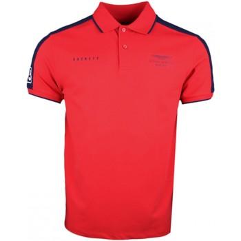 Vêtements Homme Polos manches courtes Hackett Polo piqué  rouge Aston Martin pour homme Rouge