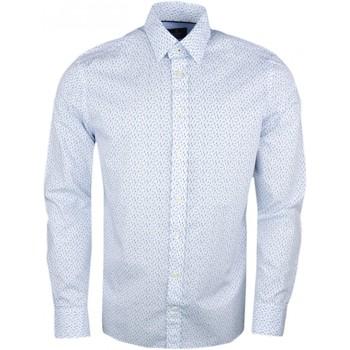 Vêtements Homme Chemises manches longues Hackett Chemise  blanche à motif bikini girls pour homme Blanc