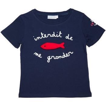 Vêtements Enfant T-shirts manches courtes Interdit De Me Gronder Sardine Bleu