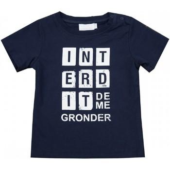 Vêtements Enfant T-shirts manches courtes Interdit De Me Gronder T-shirt manches courtes SQUARE Bleu