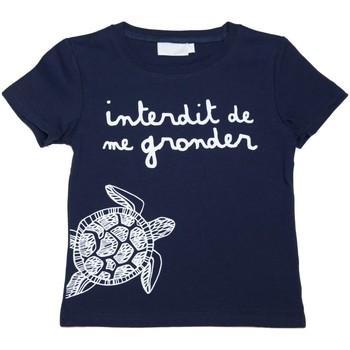 Vêtements Enfant T-shirts manches courtes Interdit De Me Gronder T-shirt manches courtes MA TORTUE Bleu