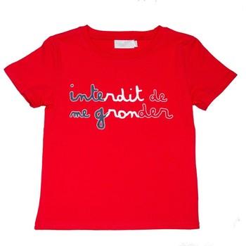 Vêtements Enfant T-shirts manches courtes Interdit De Me Gronder Tribord Rouge