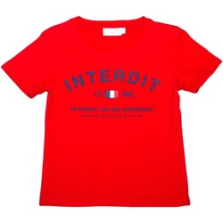 Vêtements Enfant T-shirts manches courtes Interdit De Me Gronder Capitale Rouge