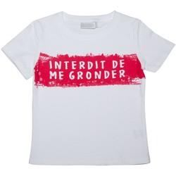 Vêtements Enfant T-shirts manches courtes Interdit De Me Gronder T-shirt manches courtes MOUSSAILLON Blanc