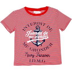 Vêtements Enfant T-shirts manches courtes Interdit De Me Gronder T-shirt manches courtes ANCRE Rouge