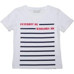 Vêtements Enfant T-shirts manches courtes Interdit De Me Gronder L'envers Blanc