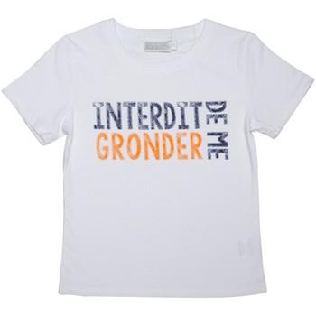 Vêtements Enfant T-shirts manches courtes Interdit De Me Gronder T-shirt manches courtes GRONDER Blanc