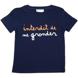Vêtements Enfant T-shirts manches courtes Interdit De Me Gronder Duo Bleu